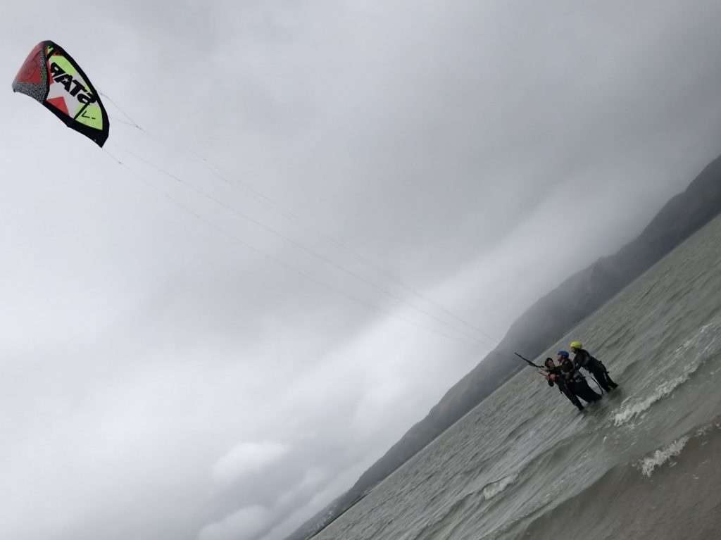 Kitesurf lesson - First piloting